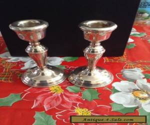 Solid silver candlesticks ( pair) hallmarked  for Sale