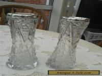Pair of Cut Glass Sterling Silver Vases