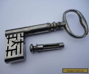 georgian strong box key with dust cap for Sale