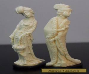 (2) Vintage Chinese Japan Figures Women Minature for Sale