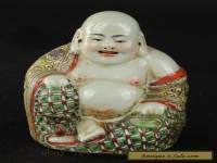 China's collection of ancient hand painted porcelain Buddha