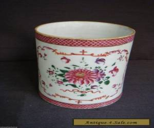 LARGE ANTIQUE 19TH CENTURY CHINESE FLORAL TANKARD for Sale