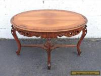 French Carved Walnut Small Coffee Table or Side Table 7508