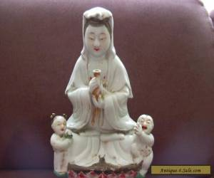 Chinese Porcelain Kwan Yin with Kids for Sale