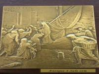 FRENCH BRONZE ART PLAQUE - HENRY DROPSY (Purvis de Chavannes, St Genevieve)