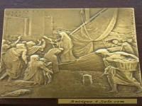 FRENCH BRONZE ART PLAQUE - HENRY DROPSY (Purvis de Chavannes, St Genevieve)