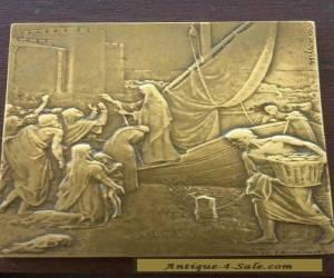 FRENCH BRONZE ART PLAQUE - HENRY DROPSY (Purvis de Chavannes, St Genevieve) for Sale