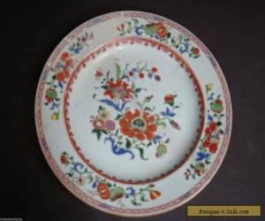 LARGE ANTIQUE 19TH CENTURY CHINESE FLORAL PLATE for Sale
