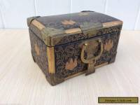 19th c. Antique Japanese lacquer miniature chest / box.