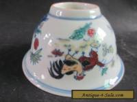 Chinese Old ancient ceramic bowls. The rooster bowls NRR026