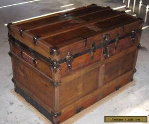 ANTIQUE VICTORIAN STEAMER CHEST TRUNK VINTAGE 1900-1930s RESTORED for Sale