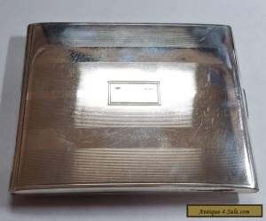 Elegant Vintage 1940's Sterling Silver Cigarette Case for Sale