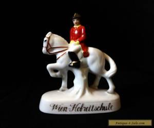 "Vintage 3.9"" porcelain figurine HORSE Wien Hofreitschule SPANISH RIDING SCHOOL for Sale"
