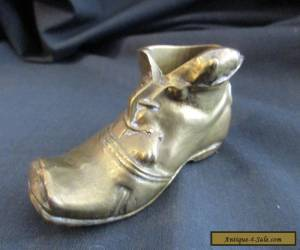 Antique Brass Shoe MATCH STRIKER ,SHOE WITH MICE ,PEERAGE BRAND ENGLAND 1930,S for Sale