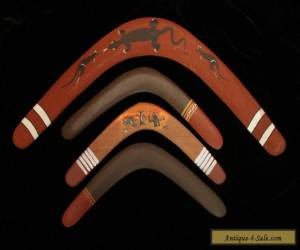 Group of 4 retro returning boomerangs 70s for Sale