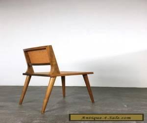 Rare Vintage Mid Century Modern Walnut Cane Chair 1950's Laszlo Risom Dunbar Era for Sale