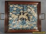 FINE ANTIQUE CHINESE EMBROIDERED RANK BADGE TRAY for Sale