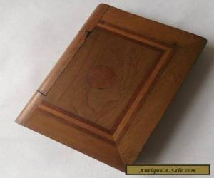 Lovely Vintage Inlaid Wooden Puzzle Book Box With Drawer for Sale
