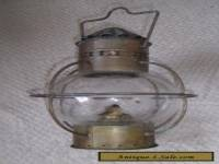 Lovely Vintage Glass Oil Lantern