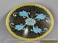 Vintage Very Nice Chinese Cloisonne Brass  Plate Hand Painted Circa 1970s