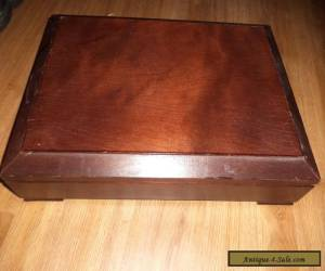 wooden  vintage cutlery box for Sale