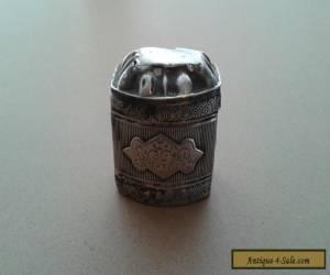 ANTIQUE 19TH CENTURY DUTCH SILVER SPICE BOX for Sale
