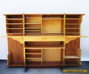 Vintage Danish Modern Teak Wood Folding Cube Locking Desk With Keys Secretary   for Sale