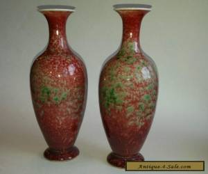 Pair Chinese Peach Bloom Porcelain Vases   for Sale