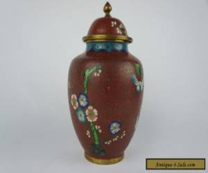 "Excellent antique chinese covered cloisonne vase 8 1/4"" ca. 1920s for Sale"