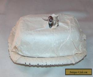 VINTAGE WRAPPED SILVER BUTTER DISH WITH GLASS INSERT  for Sale
