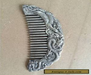 Collectibles Decorated Miao Silver Hand-carved beauty Comb  for Sale