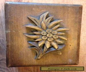 Edelweiss Vintage Wooden Puzzle Box good condition carved for Sale