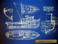 "Vintage Alaska Fishing Trawler 1933 Blueprint Drawing 20""x24"" (005)"