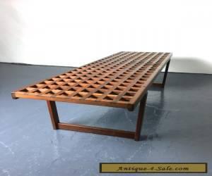 Vintage Mid Century Danish Modern Teak Bench Coffee Table Peter Lovig Nielsen for Sale