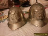 VINTAGE METROPOLITAN POLICE HELMET BELL H. SEENER BOBBIE ENGLAND