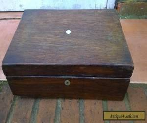 19th Century rosewood veneered writing box for restoration for Sale