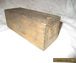 VINTAGE SLIDING TOP PINE WOODEN BOX for Sale