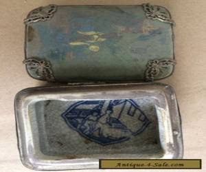 Chinese Miao Silver Porcelain Palace Below Moon Beauty Belle Jewelry Box for Sale