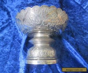 Antique Hallmarked Silver Chinese Bon Bon Dish  for Sale