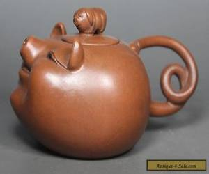 Chinese Old Purple Clay Wonderful Handwork Lovely Pig Tea Pot for Sale