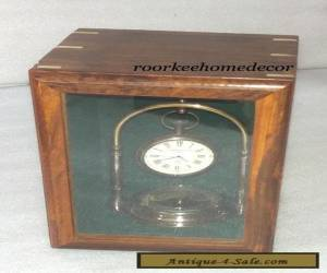 Collectible Amazing Nautical Vintage DESKTOP CLOCK With Mirror Sheesham Wood Box for Sale