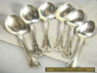 (6) Six Sterling Silver Teaspoons - Hallmarked & Monogrammed