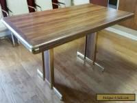 Vintage Brass Mid Century Modern Dining Table Milo Baughman Style