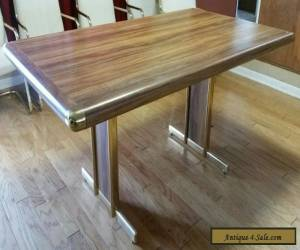 Vintage Brass Mid Century Modern Dining Table Milo Baughman Style for Sale