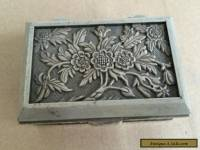Beautiful tibet silver carved flower jewelry box
