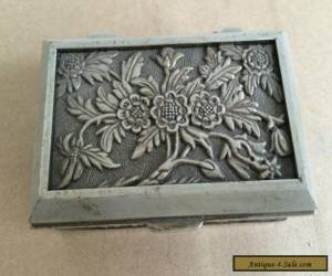 Beautiful tibet silver carved flower jewelry box for Sale