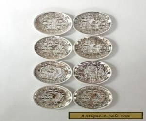 FORNASETTI Mitolgoia SET 8 Coasters BONWIT TELLER Italy MINT for Sale