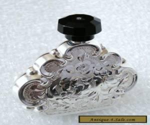 Antique SILVER perfume bottle 900 - ART DECO for Sale
