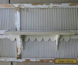 """VTG Antique FRENCH COUNTRY 36"""" Mantle Wall Shelf SCALLOPED Cottage HANDMADE 40's for Sale"""