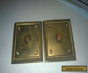 A pair of Square Edwardian solid Brass bell push for Sale